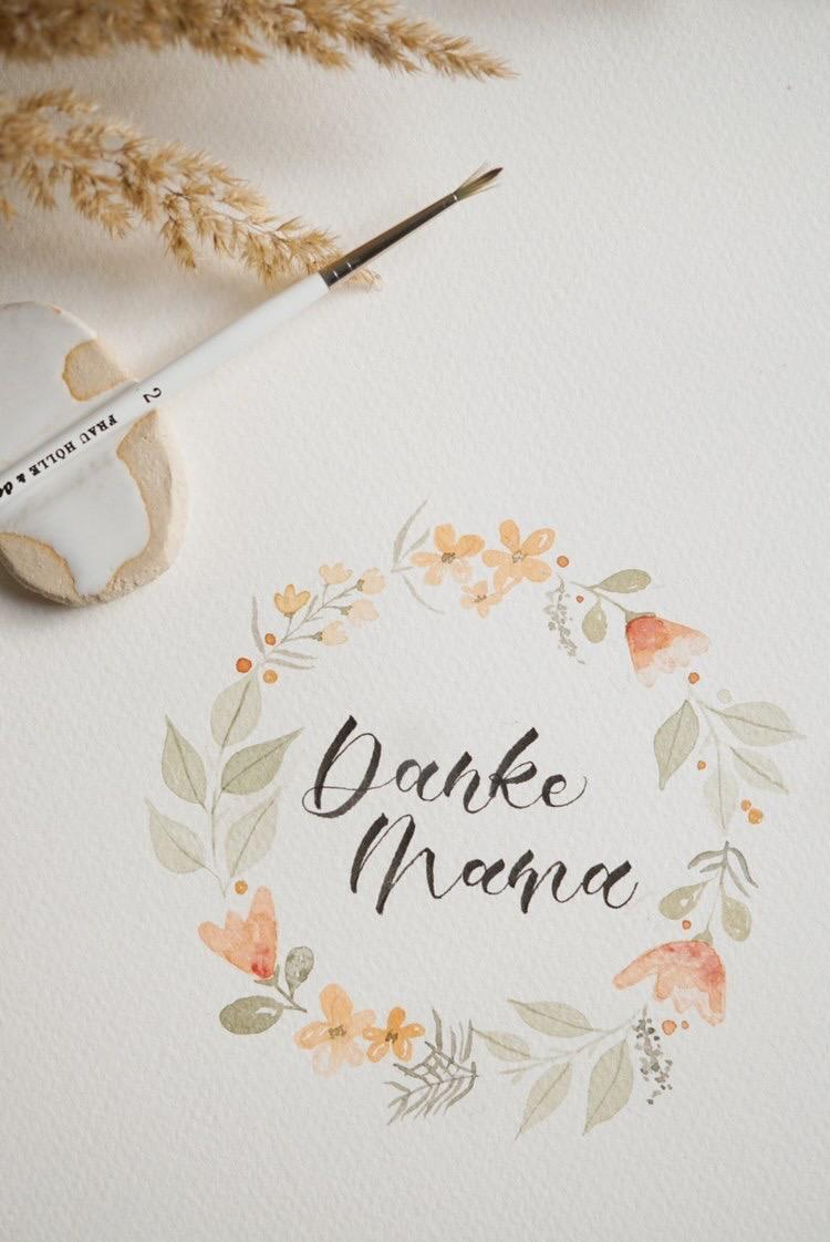 Vorlage Blumenkranz Muttertag