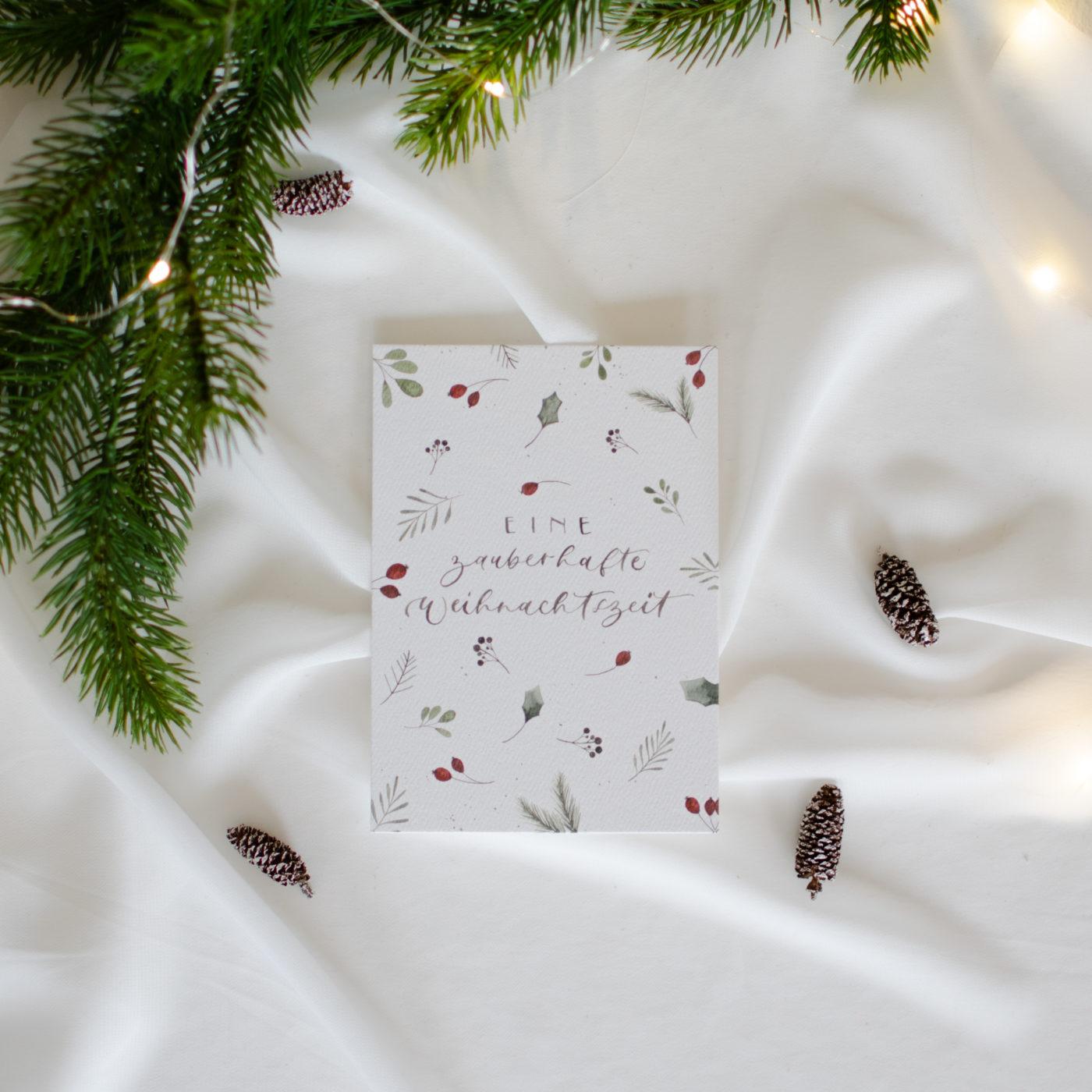 """Postkarte """"Ein zauberhaftes Weihnachtsfest"""""""
