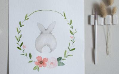 """Vorlage """"Watercolor Bunny"""""""