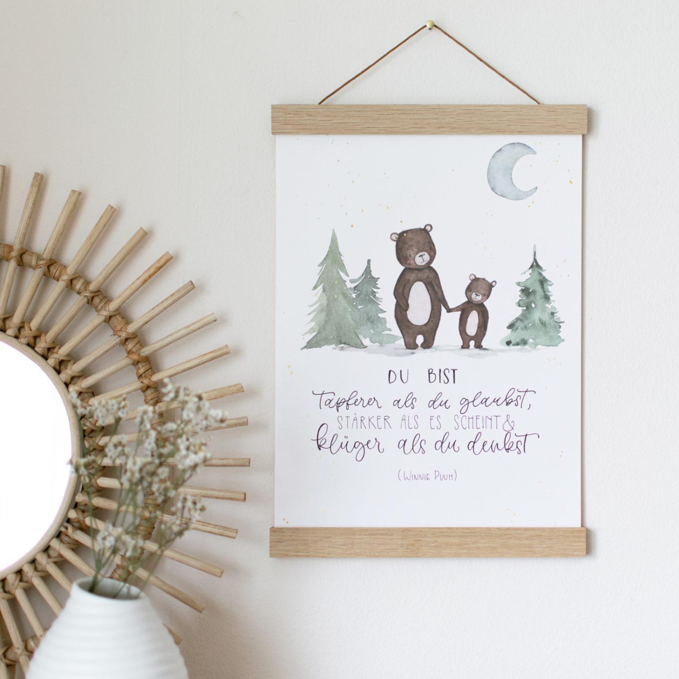 Poster Spruch Bären