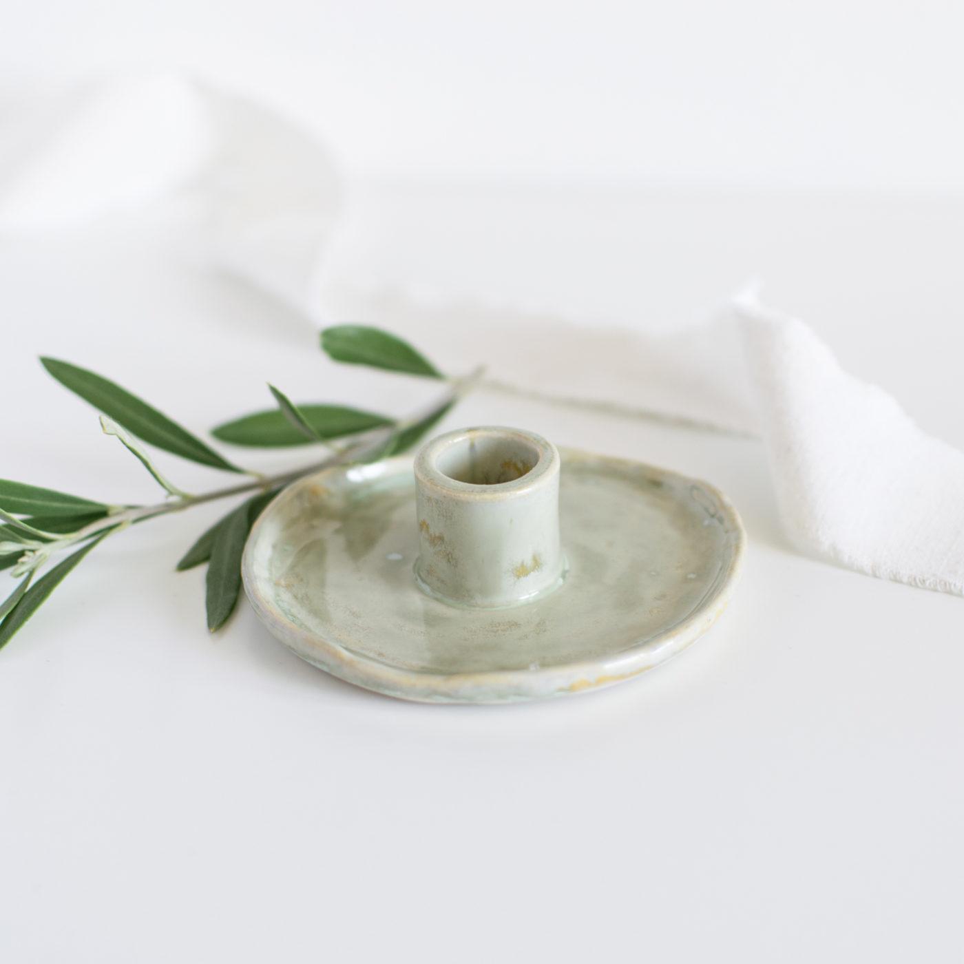 Stabkerzen Kerzenständer Salbeigrün