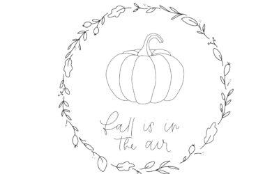 Vorlage Herbstkranz